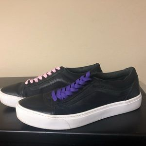 Vans LE Mesh Leather Low Tops Black Men's 11.5